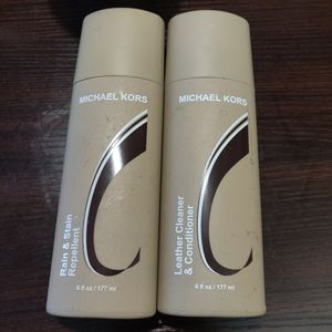 NWT Michael Kors leather care / protectant kit